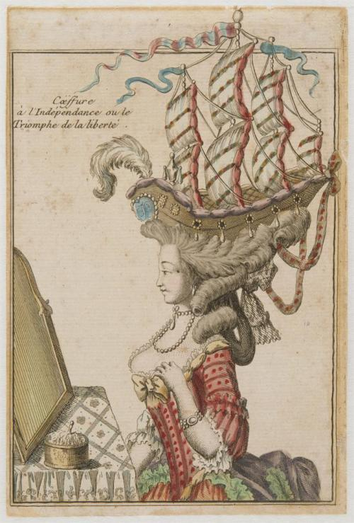 Anonymous French printmaker | Coiffure of Independence or The Triumph of Liberty | c. 1778 | Musée national de la coopération franco-américaine