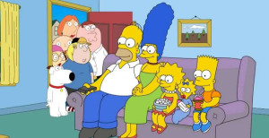 simpsons family guy crossover