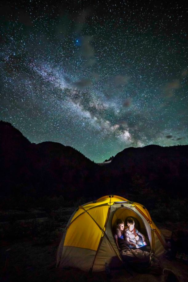 Camped under the Milky Way